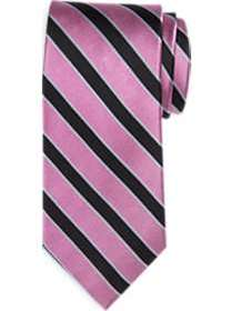 Egara Pink & Black Stripe Narrow Tie