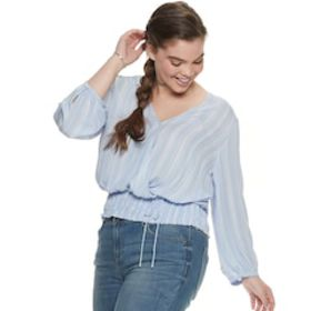 NEW! Juniors' Plus Size Candie's® Long Sleeve Smoc