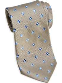Joseph Abboud Taupe & Blue Floral Narrow Tie