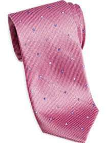 Esquire Pink Dots Skinny Tie