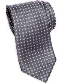 Awearness Kenneth Cole Blue & Gray Check Narrow Ti