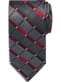 Awearness Kenneth Cole Red & Gray Check Stripe Ext