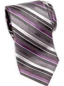 Awearness Kenneth Cole Purple & Gray Stripe Narrow