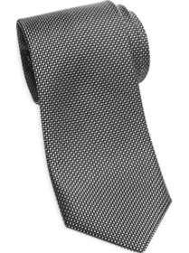 Joseph Abboud Black Mini Check Narrow Tie