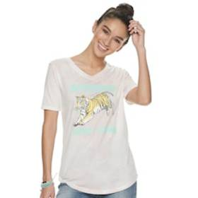 Juniors' Tiger 'Weekend Here I Come' Graphic Tee