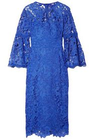 LELA ROSE Guipure lace dress