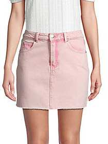Lea & Viola Faded Denim Skirt PINK TIE DYE