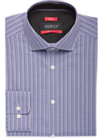 Awearness Kenneth Cole Purple & Gray Check Slim Fi