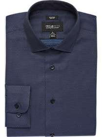 Awearness Kenneth Cole Navy & Blue Dot Slim Fit