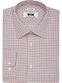 Joseph Abboud Rust & Gray Check Classic Fit Dress
