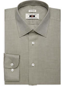 Joseph Abboud Olive Herringbone Dress Shirt