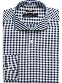 Pronto Uomo Green Check Slim Fit Dress Shirt