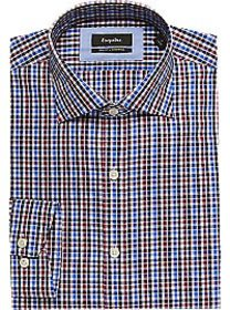 Esquire Blue & Red Check Slim Fit Dress Shirt