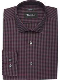 Awearness Kenneth Cole Red Gingham Slim Fit Dress