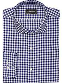 Esquire Ultimate Non-Iron Navy Check Slim Fit Dres