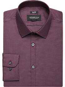 Awearness Kenneth Cole Burgundy Check Slim Fit Dre