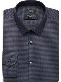 Awearness Kenneth Cole Navy Check Slim Fit Dress S