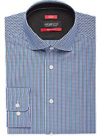 Awearness Kenneth Cole Teal & Gray Check Slim Fit
