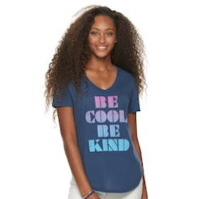 Juniors' 'Be Cool, Be Kind' Graphic Tee