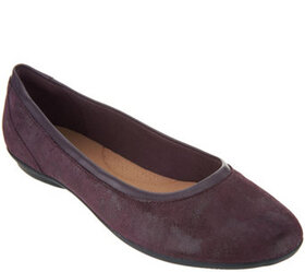 Clarks Collection Leather Ballet Flats- Gracelin M