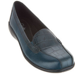 Clarks Collection Leather Slip-on Loafers - Bayou