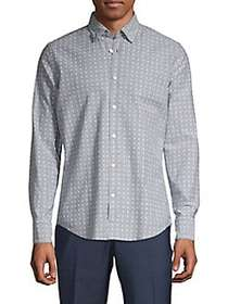 BOSS Cactus-Print Shirt GREY