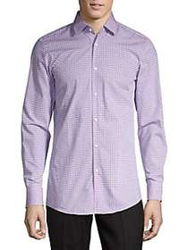 HUGO Mabel Gingham Shirt PURPLE