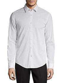 BOSS Ronnie Printed Shirt WHITE