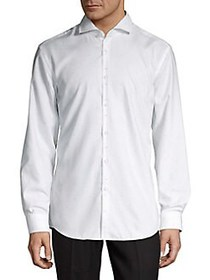 HUGO Kason Textured Shirt WHITE