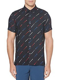 Perry Ellis Point Printed Regular-Fit Twill Shirt