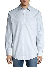Brooks Brothers Striped Cotton Shirt LIGHT BLUE