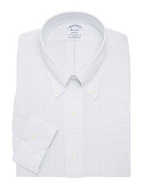 Brooks Brothers Grid Shirt WHITE BLUE