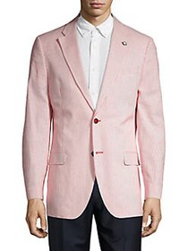 Nautica Modern-Fit Seersucker Blazer RED