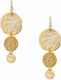 Kenneth Jay Lane Satin Gold Large To Small 3 Coin