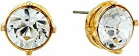 Kenneth Jay Lane Gold Setting 12mm Round Crystal S