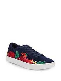 Kenneth Cole New York Kam Floral Embroidered Sneak