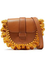 M MISSONI Knotted crochet-paneled leather shoulder