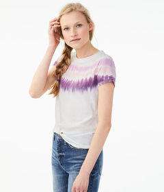 Aeropostale Seriously Soft Tie-Dye Stripe Girl Tee