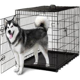 """Paws & Pals 48"""" Heavy Duty Foldable Double Door Do"""