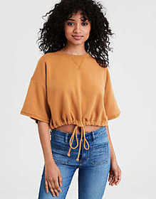American Eagle AE Short Sleeve Cropped Crew Neck S