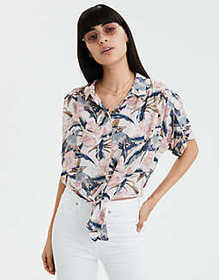 American Eagle AE Hawaiian Button Down Shirt