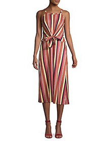 C&C California Halter Striped Midi Dress SUN KISSE