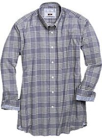 Joseph Abboud Navy Plaid Sport Shirt