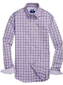 Egara Purple Check Sport Shirt