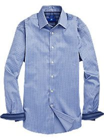 Egara Blue Mini Paisley Sport Shirt