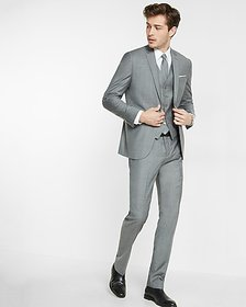Express slim micro twill suit jacket