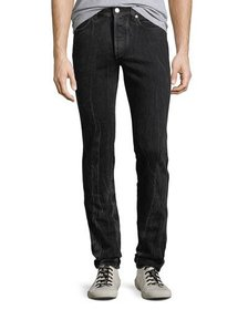 Givenchy Men's Contrast-Topstitching Straight-Leg