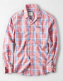 American Eagle AE Cotton Slub Button Up Shirt