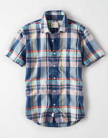 American Eagle AE Short Sleeve Button Down Shirt