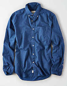 American Eagle AE Long Sleeve Button Up Shirt